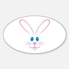 Pink Bunny Face Decal