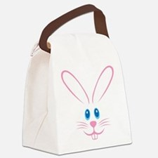 Pink Bunny Face Canvas Lunch Bag