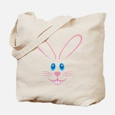 Pink Bunny Face Tote Bag
