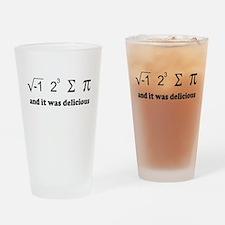 i eight sum pi Drinking Glass