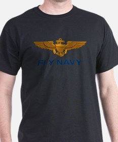 Naval Aviator Wings Fly Navy T-Shirt