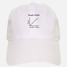 Simple math crazy number of cats Baseball Baseball Cap