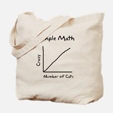Simple math crazy number of cats Tote Bag