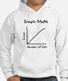 Simple math crazy number of cats Hoodie