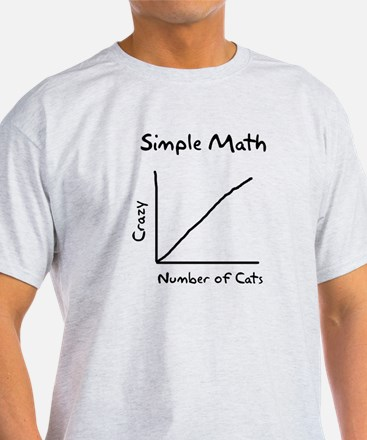 Simple math crazy number of cats T-Shirt