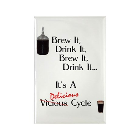 Delicious Cycle Rectangle Magnet (10 pack)