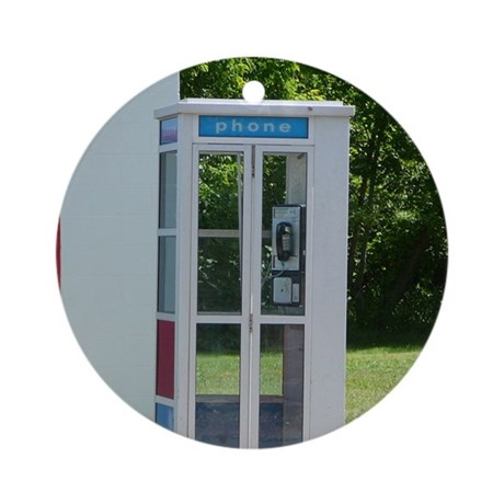 Phone Booth Ornament (Round)
