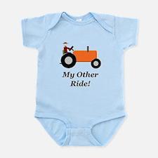 My Other Ride Orange Infant Bodysuit