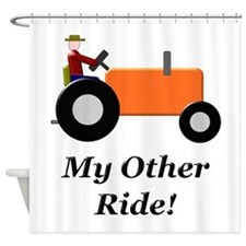 My Other Ride Orange Shower Curtain