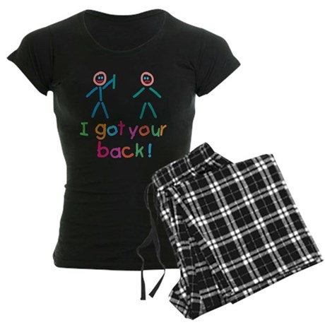 I Got Your Back Fun Women's Dark Pajamas