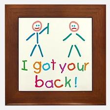 I Got Your Back Fun Framed Tile