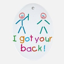I Got Your Back Fun Ornament (Oval)