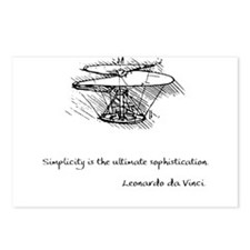 vinci_helico_cita_2000.png Postcards (Package of 8