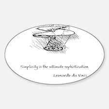 vinci_helico_cita_2000.png Sticker (Oval)