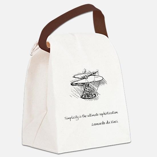 vinci_helico_cita_2000.png Canvas Lunch Bag