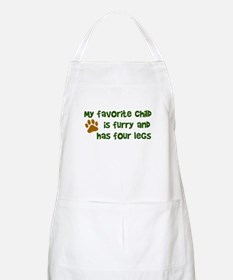 My favorite child furry four legs Apron