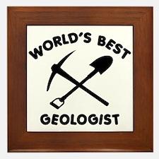 World's Best Geologist Framed Tile