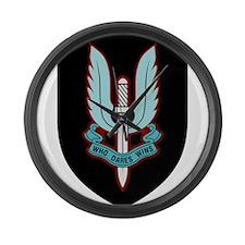 Cap Badge of SAS Large Wall Clock