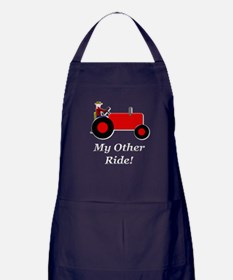 My Other Ride Red Apron (dark)