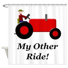 My Other Ride Red Shower Curtain