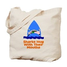 Sharks hug with their mouths Tote Bag