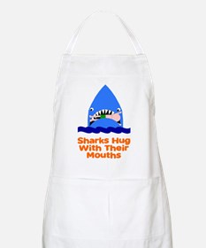 Sharks hug with their mouths Apron