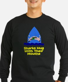 Sharks hug with their mouths T