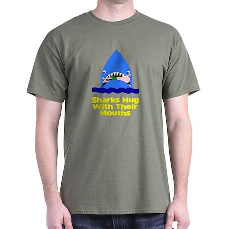 Sharks hug with their mouths Dark T-Shirt