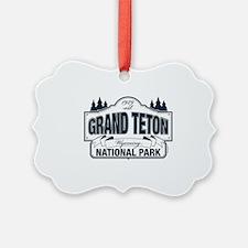 Grand Teton Blue Sign Ornament