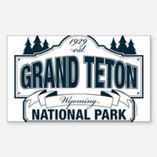 Grand Teton Blue Sign Decal