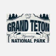 Grand Teton Blue Sign Rectangle Magnet