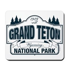 Grand Teton Blue Sign Mousepad