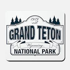 Grand Teton Blue Sign Mousepad