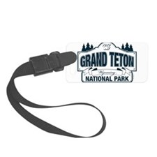 Grand Teton Blue Sign Luggage Tag