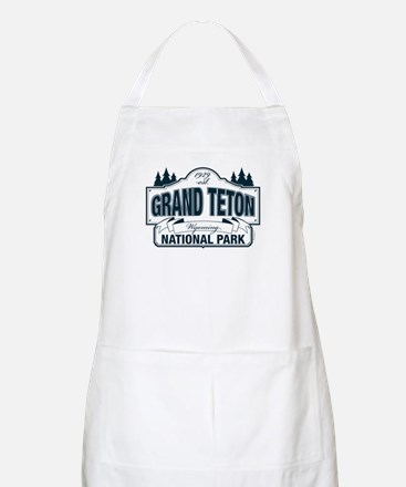 Grand Teton Blue Sign Apron