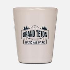 Grand Teton Blue Sign Shot Glass