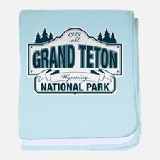 Grand Teton Blue Sign baby blanket