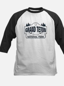 Grand Teton Blue Sign Kids Baseball Jersey