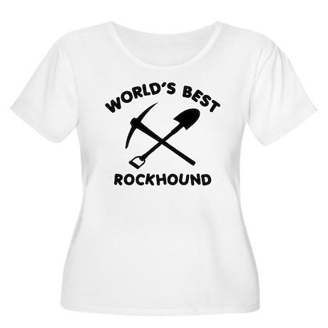 World's Best Rockhound Women's Plus Size Scoop Nec