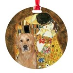 TheKiss-Golden (K) Round Ornament