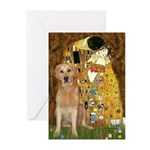 TheKiss-Golden (K) Greeting Cards (Pk of 20)