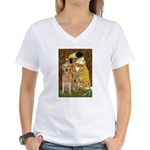 TheKiss-Golden (K) Women's V-Neck T-Shirt