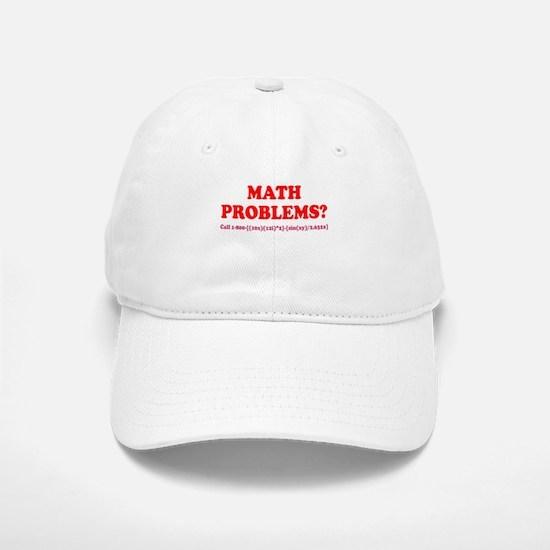 Math Problems? Call 1-800 Baseball Baseball Cap