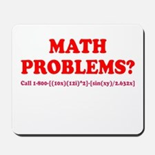 Math Problems? Call 1-800 Mousepad