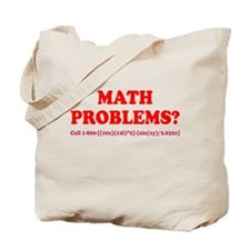 Math Problems? Call 1-800 Tote Bag