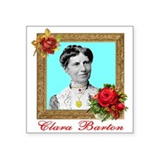 "Clara Barton - Nurse Square Sticker 3"" x 3&qu"