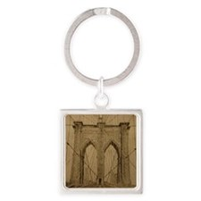 Brooklyn Bridge Square Keychain