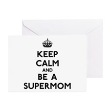 Keep Calm Supermom Greeting Cards (Pk of 10)