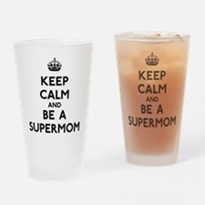 Keep Calm Supermom Drinking Glass