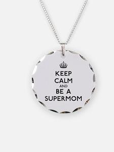 Keep Calm Supermom Necklace